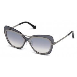 Balenciaga BA 0087 12C Lucent Dark Ruthenium