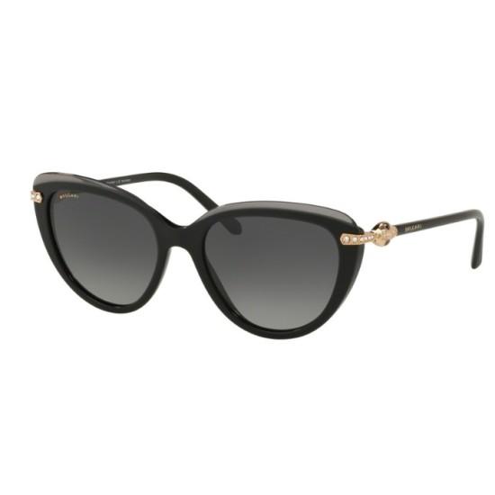 Bvlgari BV 8211B - 5464T3 Top Transparent Grey On Black | Sunglasses Woman