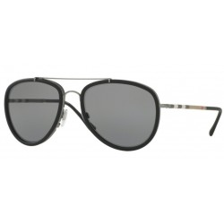 Burberry BE 3090Q 1003T8 Polarized Gunmetal/Matt Black