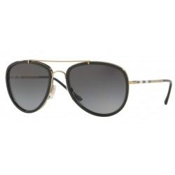 Burberry BE 3090Q 1167T3 Light Gold/Black Polarized