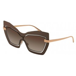 Dolce & Gabbana DG 2224 - 132813 Rose Gold / Matte Brown