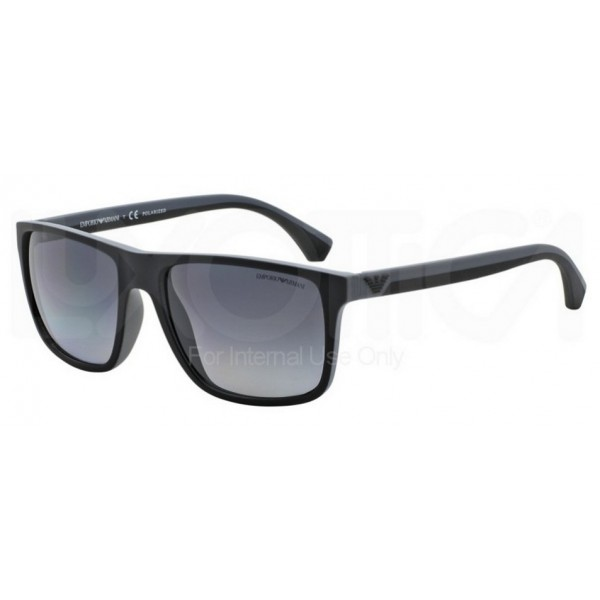 2d5e329e76 Emporio Armani EA 4033 5229T3 Polarized Black Grey Rubber