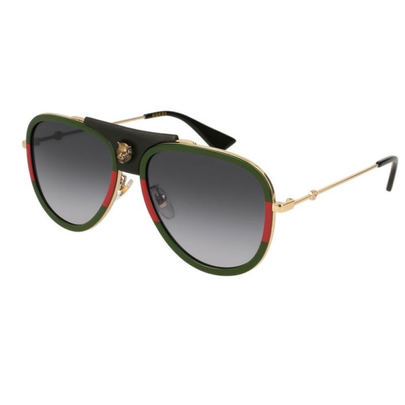 4a0c6c12f Gucci GG0062S - 015 Gold   Sunglasses Woman