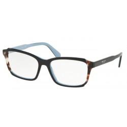 Prada PR  01VV Heritage KHR1O1 Top Black / Azure / Spotted Brown