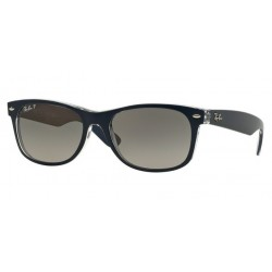 Ray-Ban RB 2132 6053M3 New Wayfarer Blue on Transparent