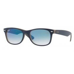 Ray-Ban RB 2132 New Wayfarer 63083F Blue Matt Brown