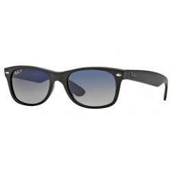 Ray-Ban RB 2132 601S-78 New Wayfarer Polarized Black Matt