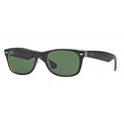 Ray-Ban RB 2132 6052 New Wayfarer Black Transparent