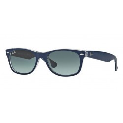 Ray-Ban RB 2132 605371 New Wayfarer Blue Matt Transparent
