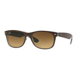 Ray-Ban RB 2132 618985 New Wayfarer Chocolate on blue