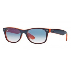 Ray-Ban RB 2132 789-3F New Wayfarer Blue Orange