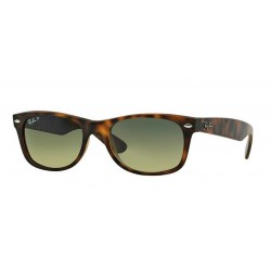 Ray-Ban RB 2132 894-76 New Wayfarer Polarized Havana Matt