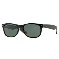 Ray-Ban RB 2132 901-58 New Wayfarer Polarized Black Polished