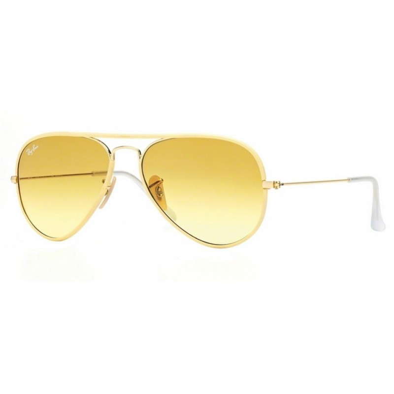 cedbc53f385 Ray-Ban RB 3025JM 001-X4 Aviator Full Color Photochromatic Gold Yellow