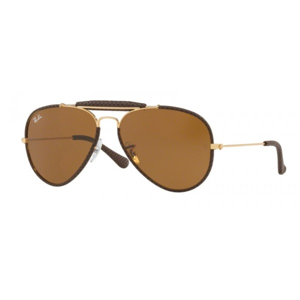 Ray-Ban RB 3422Q 9041 Brown Leather