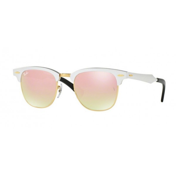 Ray-Ban RB 3507 Clubmaster Aluminum 137/7O Brusched Silver