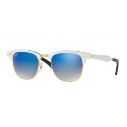 Ray-Ban RB 3507 Clubmaster Aluminum 137/7Q Brushed Silver