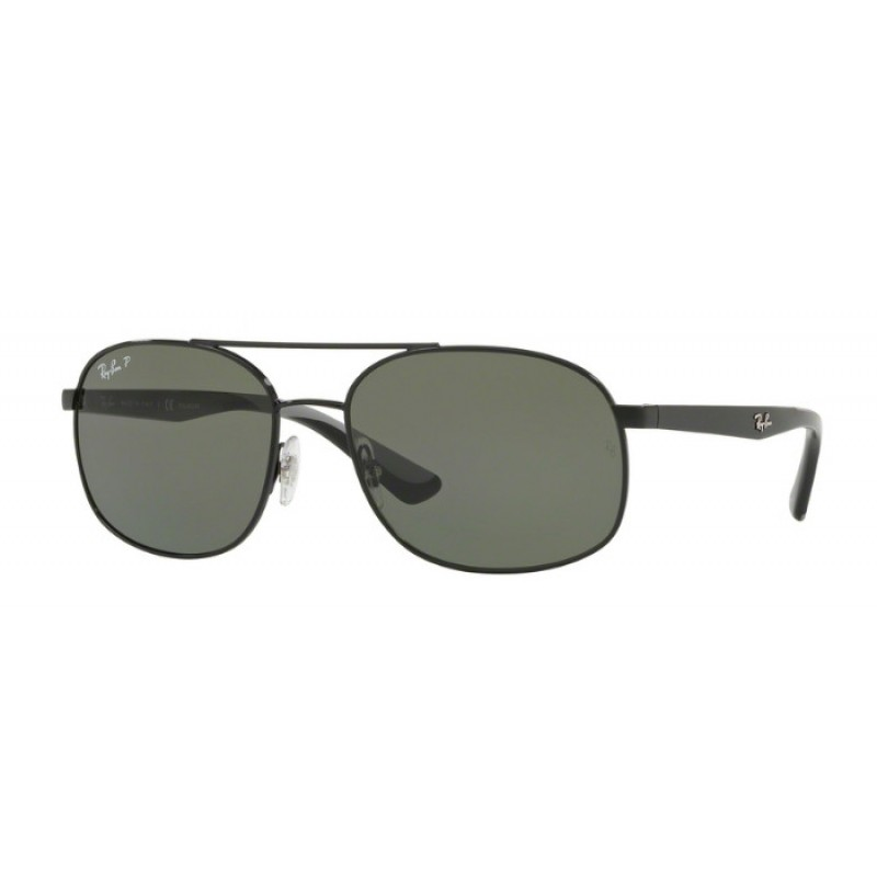 fb91de0720 Ray-Ban RB 3593 002-9A Black Polarized