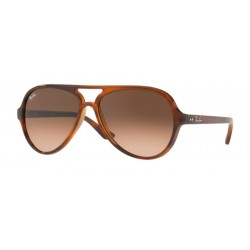 Ray-Ban RB 4125 820-A5 Cats 5000 Stripped-Havana