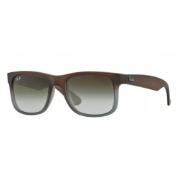 Ray-Ban RB 4165 JUSTIN 854/7Z RUBBER BROWN ON GREY