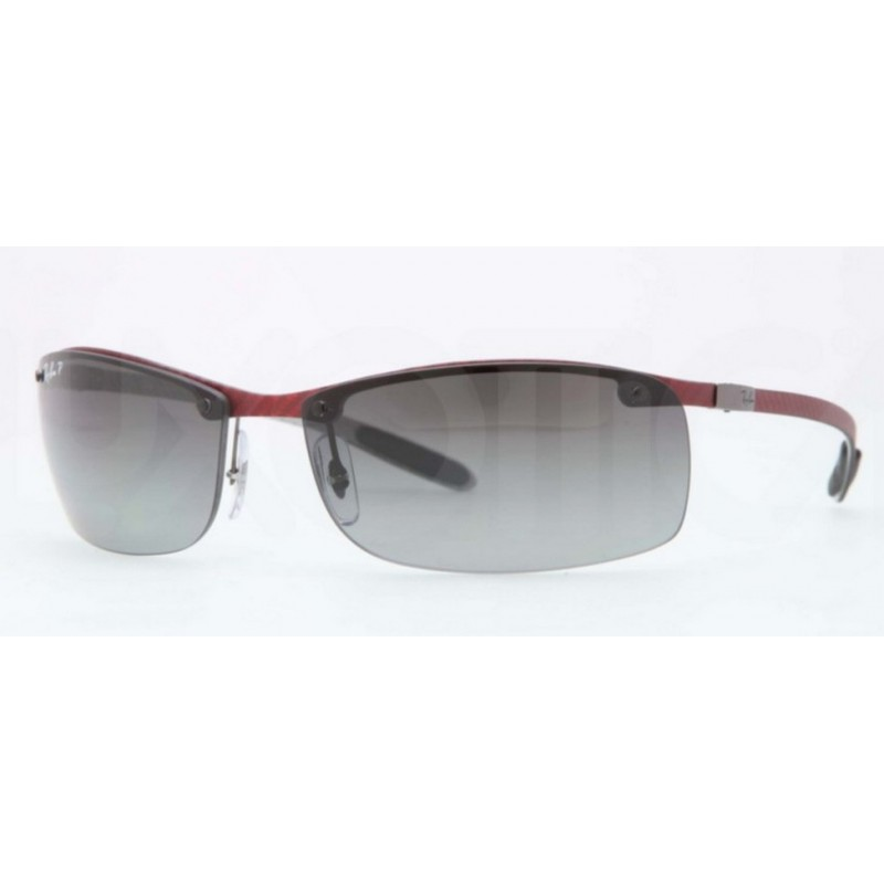 f7bd6a69cc Ray-Ban RB 8305 142-T3 Carbon Fibre Polarized Carbon Light Bordeaux