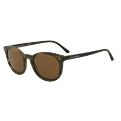 Giorgio Armani AR 8060 540557 Polarized Striped Matte Dark Brown