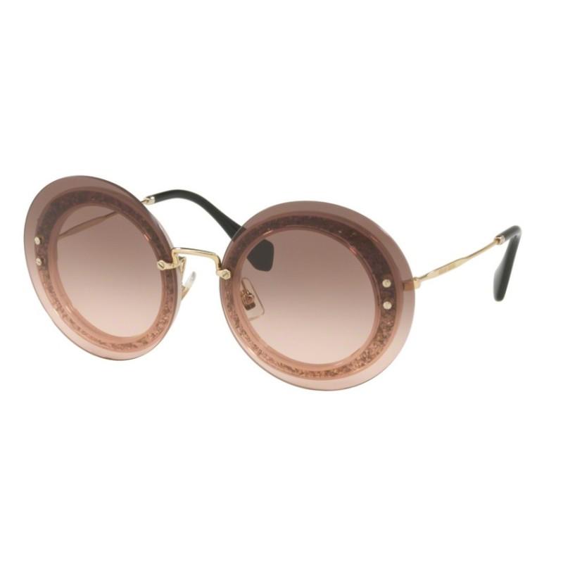 30b0b59e8250 -34% Miu Miu MU 10RS - UEU1E2 Transp Pink / Fabric Glitter Sil