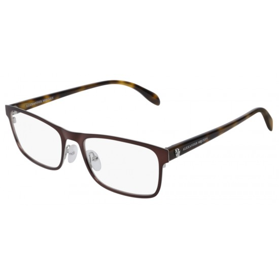Alexander McQueen AM0163O - 004 Brown | Eyeglasses Unisex