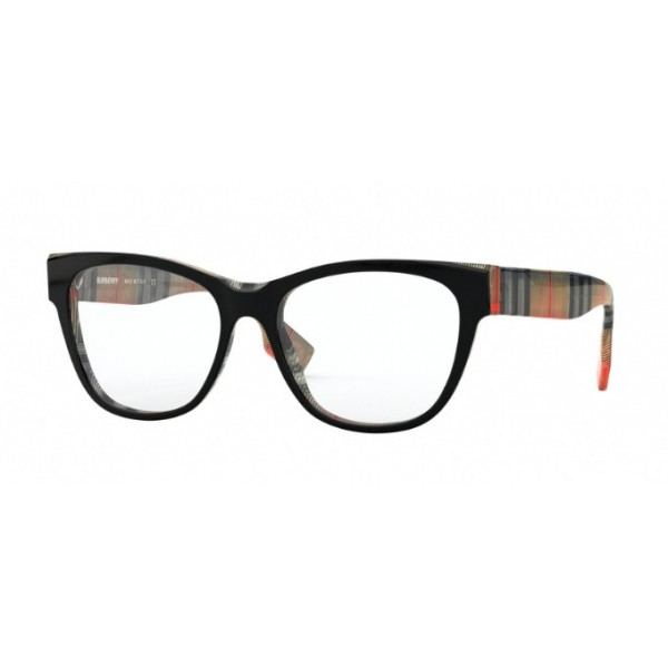 Burberry BE 2301 - 3806 Top Black On Vintage Check