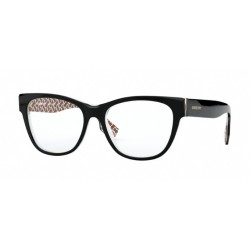 Burberry BE 2301 - 3822 Top Black / Print Tb Red / Beige