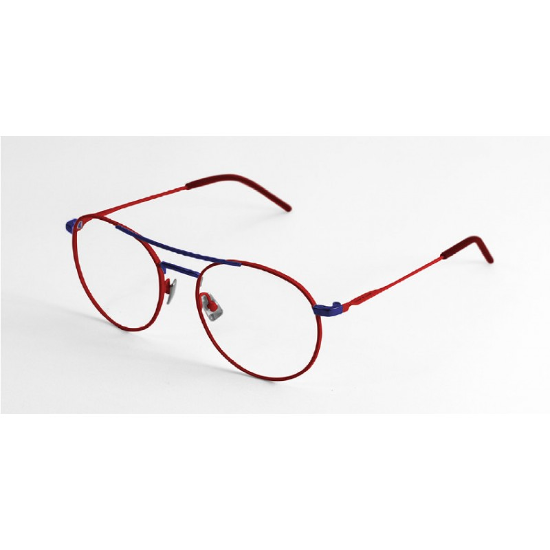 39a180f83e Italia Independent I-I Mod Axel 5306 Super Thin 5306.053.021 Red and Dark  Blue