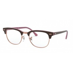 Ray-Ban RX 5154 Clubmaster 5886 Top Brown On Opal Pink