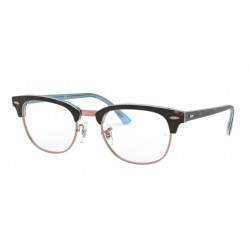 Ray-Ban RX 5154 Clubmaster 5885 Top Havana On Light Blue