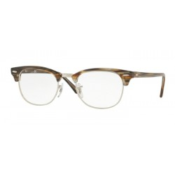 Ray-Ban RX 5154 Clubmaster 5749 Brown-grey Stripped