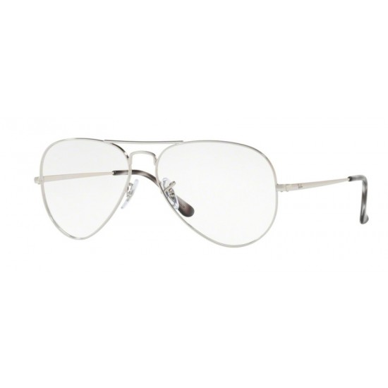 Ray-Ban RX 6489 Aviator 2501 Silver