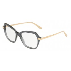 Dolce & Gabbana DG 3311 - 3210 Transparent Black Pois Gold