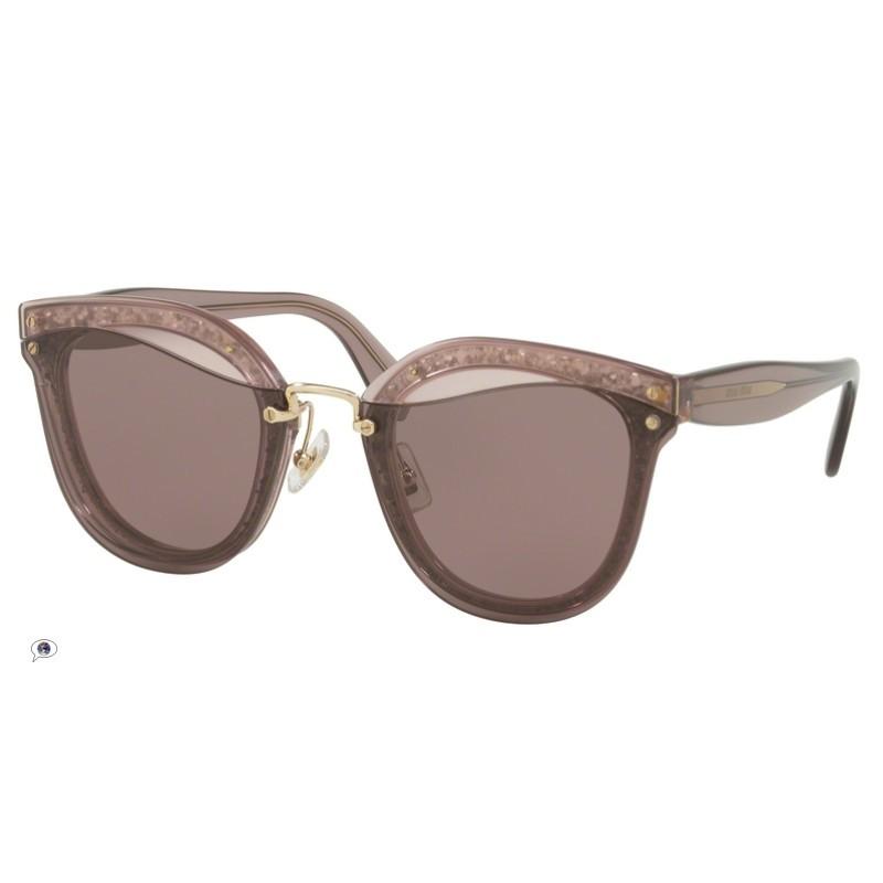 d1e8cd1a5426 Miu Miu MU 03TS - SRO6X1 Transparent Pink / Glitter | Sunglasses Woman